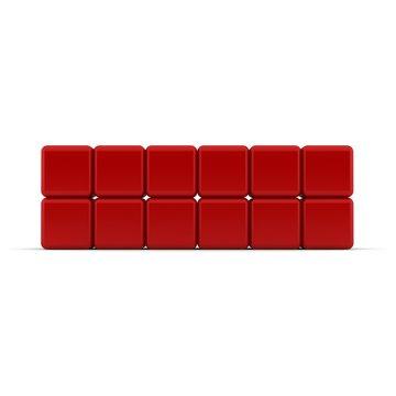2x6 rote Würfel