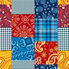 Bandanna patchwork seamless pattern