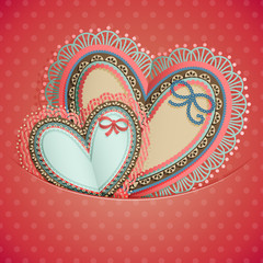 Wall Mural - Valentine`s Day vintage card