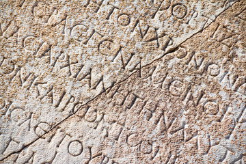 Printed roller blinds Ruins Roman inscription