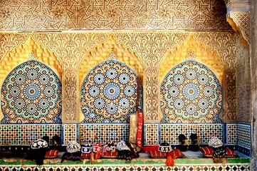 Fotobehang Marokko SOUK: MAROCCAN MARKET