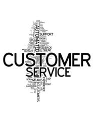 "Word Cloud ""Customer Service"""