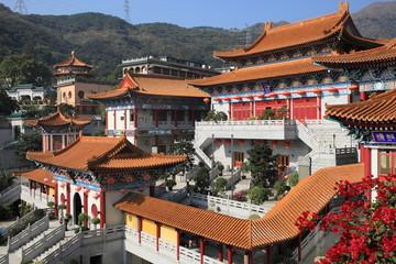 Western Monastery, landmark buddhist monastery in Hong Kong