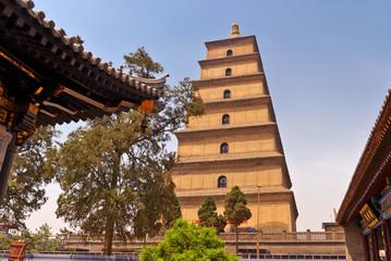 Poster de jardin Xian Giant Wild Goose Pagoda, Xian, China