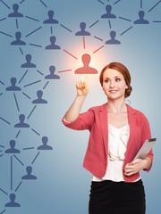soziales Netzwerk auswählen