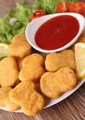 nugget and ketchup