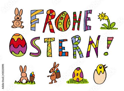 """""""frohe ostern kinderschrift"""" stockfotos und lizenzfreie"""