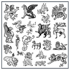 Heraldic beast collction
