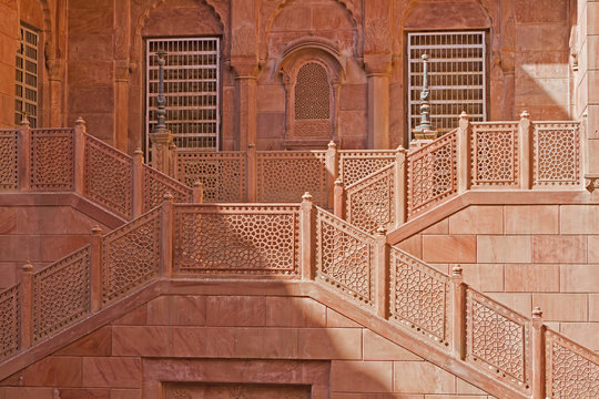 Bikaner - Fort Treppenaufgang
