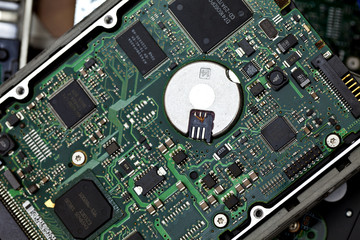 Circuit Board On Old Hard Disk