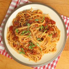 Spaghetti with Tomato Ragu