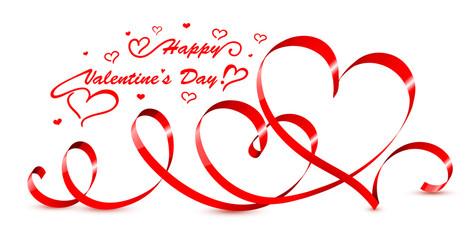 Valentine hearts. Vector illustration.