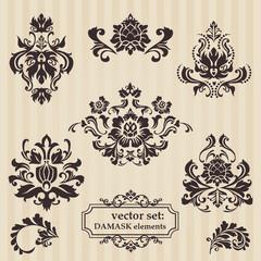 Set of ornamental DAMASK illustrations - for your design, invita