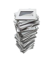 Stack of transparency slides