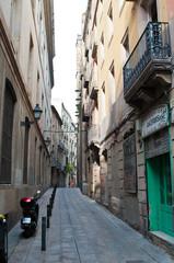 Narrow small street of Barcelona
