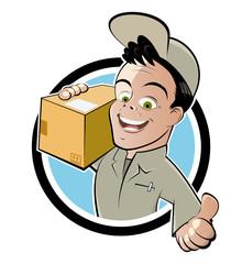 lieferung paket cartoon