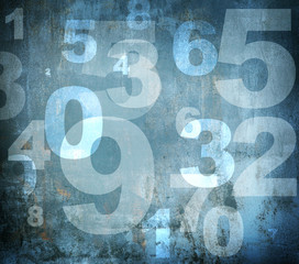 Grunge worn numbers