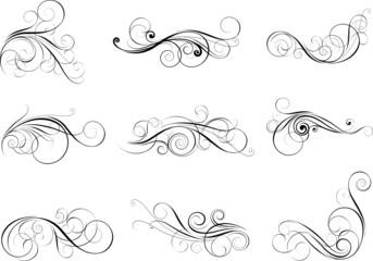 Set swirl design elements