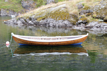 Wall Mural - Traditional old Lofoten's boat