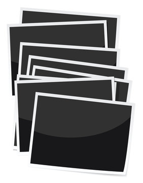 stack of photo prints illustrations