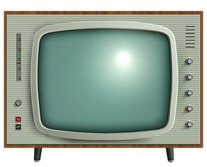 retro tv isolated.