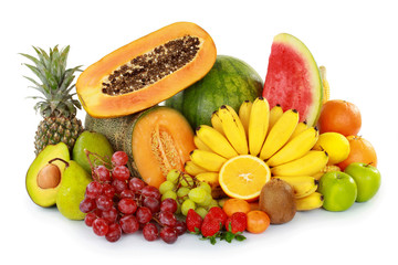 colorful fresh fruits