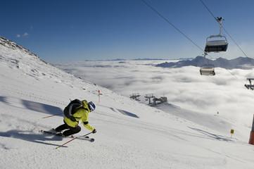 Skifahren über den Wolken, einfach wunderschön
