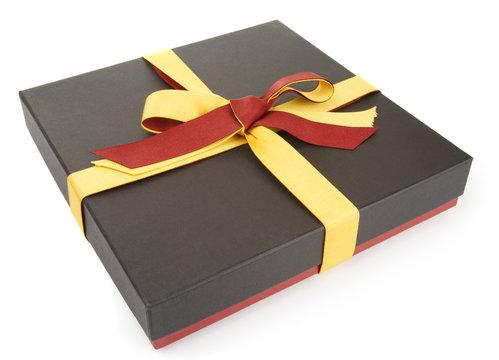 Flat cardboard gift box