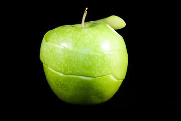 Peeled Granny Smith apple