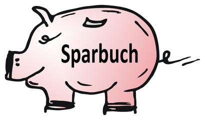 Spachschwein, Sparbuch - sparen