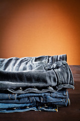 jeans a variety of colors