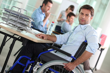 portrait of a man in wheelchair