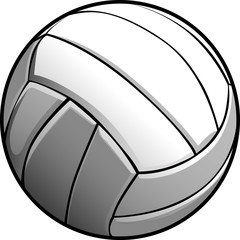 Volleyball Ball Vector Image Icon.