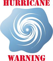 Hurricane warning icon on white vector