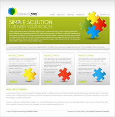 Vector Modern web page template