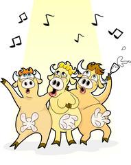 singing cows