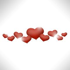 Red  shiny hearts