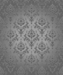 Bezszwowa powtarzalna szara tapeta kwiatowa