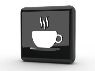 Button Kaffee schwarz