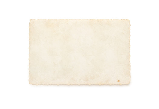 Old photograph isolated on white background
