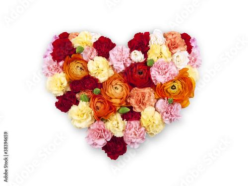 Bouquet Fleur Coeur Photo Libre De Droits Sur La Banque D Images