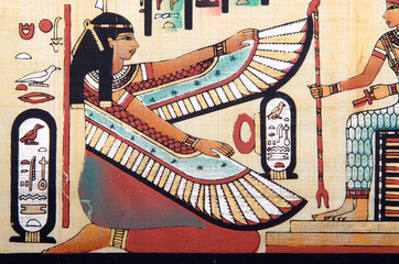 Tuinposter Egypte Egyptian history concept with papyrus