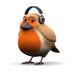 3d Robin got some new headphones for Christmas
