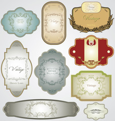 Ornate vintage decorative vector frames