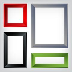 Set of different frames.