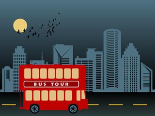 Tour Bus, vector illustration