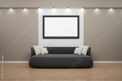 Bilderrahmen Mit Sofa, Wand Beige