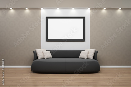"bilderrahmen mit sofa, wand beige"" stockfotos und lizenzfreie, Hause deko"