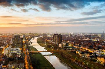 Mannheim at dusk
