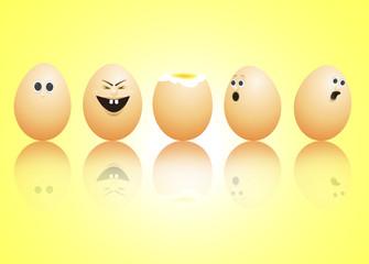 Egg faces.